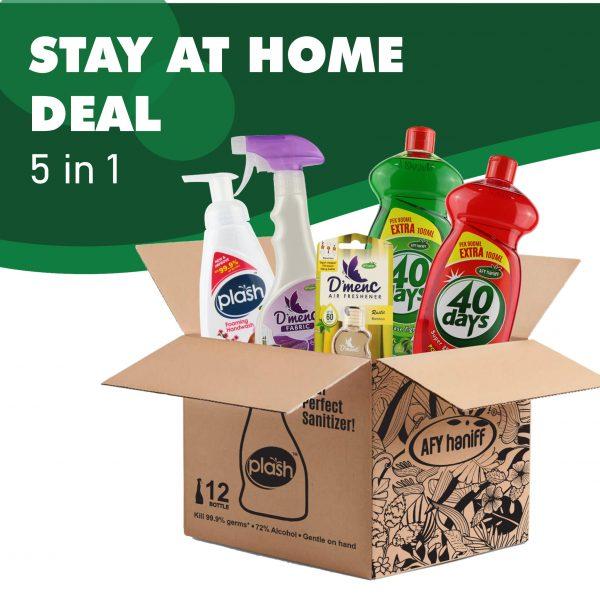 pencuci pinggan dan penghalau serangga semulajadi serai wangi, di dalam kotak dijual secara pukal sebagai galakan untuk Stay At Home MCO 3.0