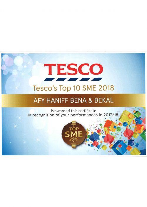 TESCO Award Top SME 2018